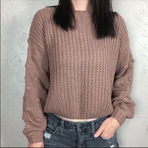 NWT Moon & Madison Bobble Sleeve Sweater